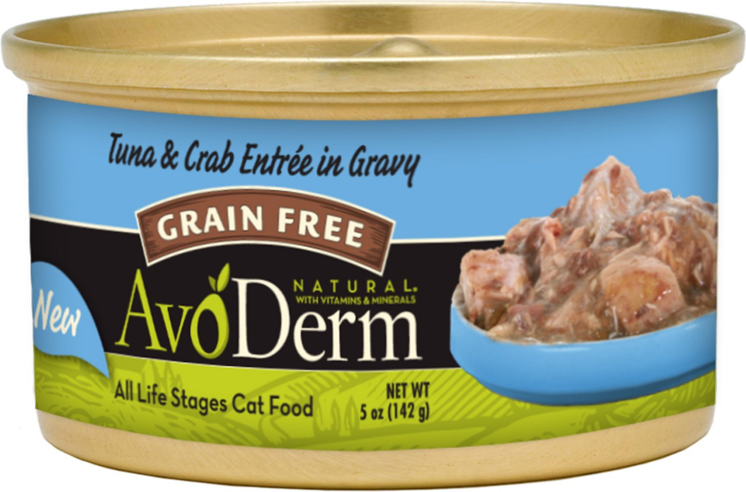 AvoDerm Natural Grain-Free Tuna & Crab Entree in Gravy Canned Cat Food, 3-oz