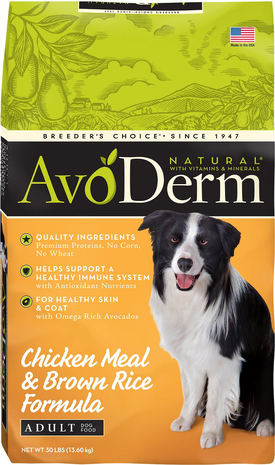 AvoDerm Natural Chicken Meal & Brown Rice Formula Adult Dry Dog Food Image