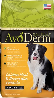 AvoDerm Natural Chicken Meal & Brown Rice Formula Adult Dry Dog Food, 4.4-lb bag