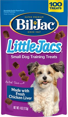 Bil-Jac Little-Jacs Chicken Liver Training Dog Treats, 4-oz bag