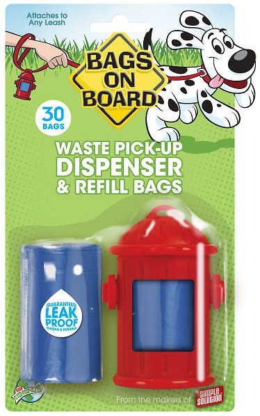 Bags on Board Fire Hydrant Dispenser, 1 dispenser, 30 bags Image