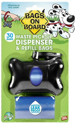 Bags on Board Bone Dispenser, Black, 1 dispenser, 30 bags Image