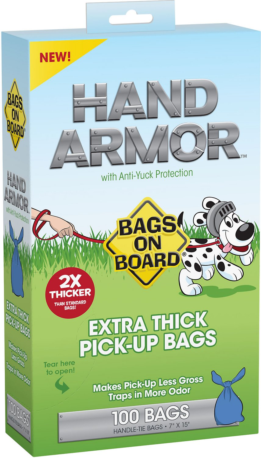 Bags on Board Hand Armor Extra Thick Pick-Up Bags, 100 count Image