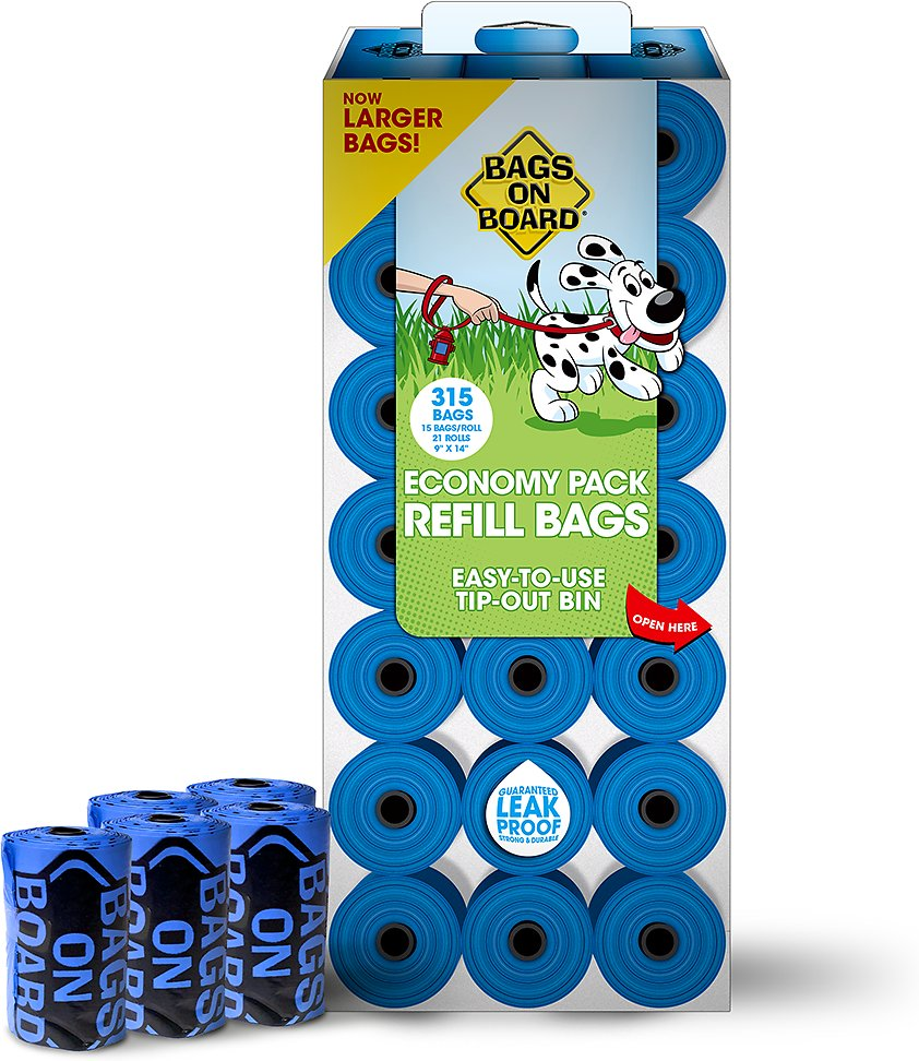 Bags on Board Bag Refill Pack, Unscented, Color Varies, 315 count Image