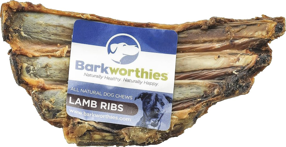 Barkworthies Lamb Ribs Dog Treats Image