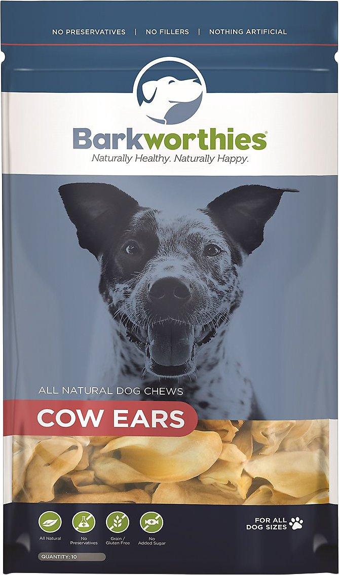 Barkworthies Cow Ears Dog Treats, 10-pk