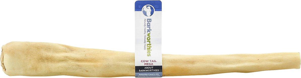 Barkworthies Mega Cow Tails Dog Treats