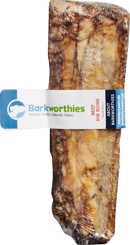 Barkworthies Beef Rib Bone Dog Treats