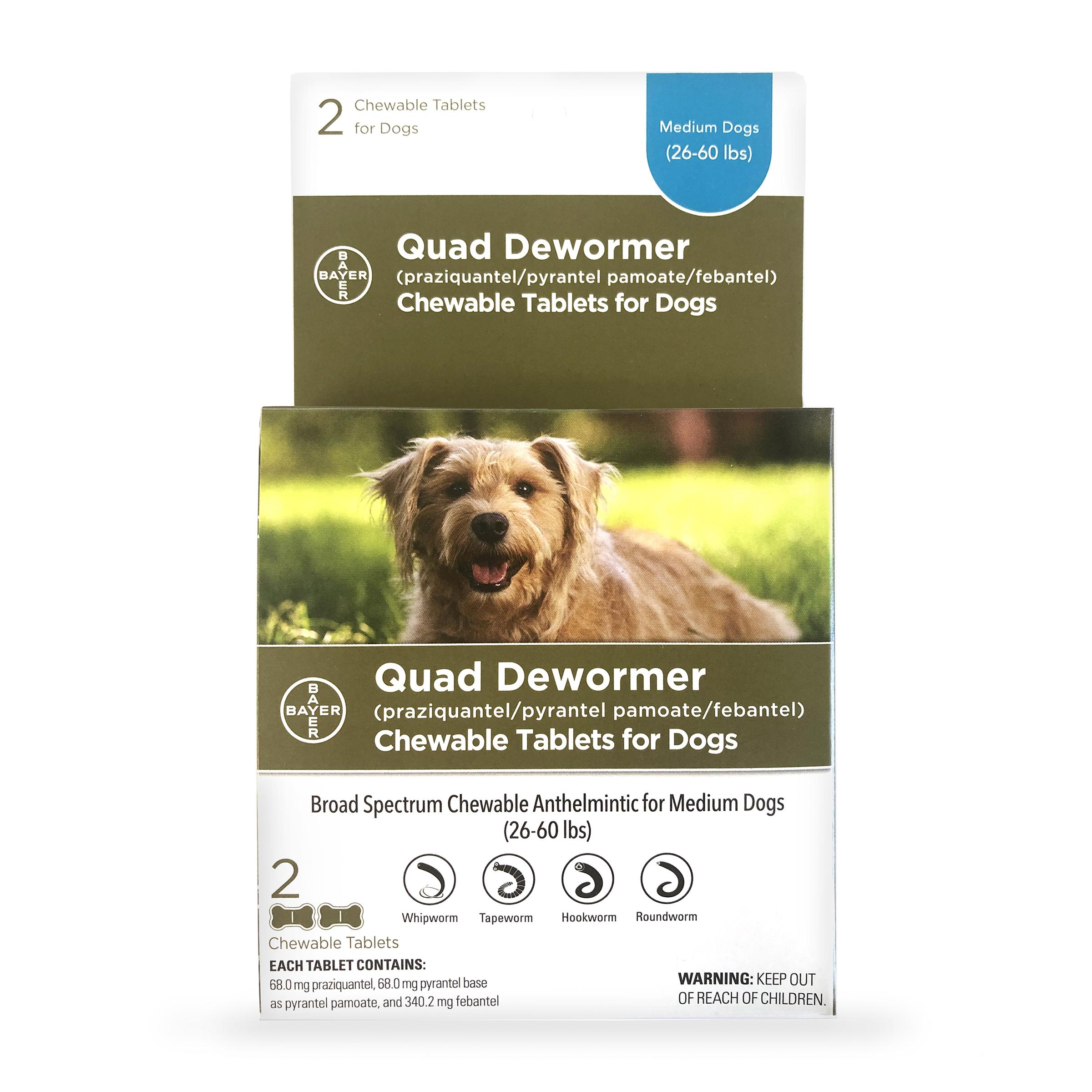 Quad Medium Dog De-Wormer, 2-count Image