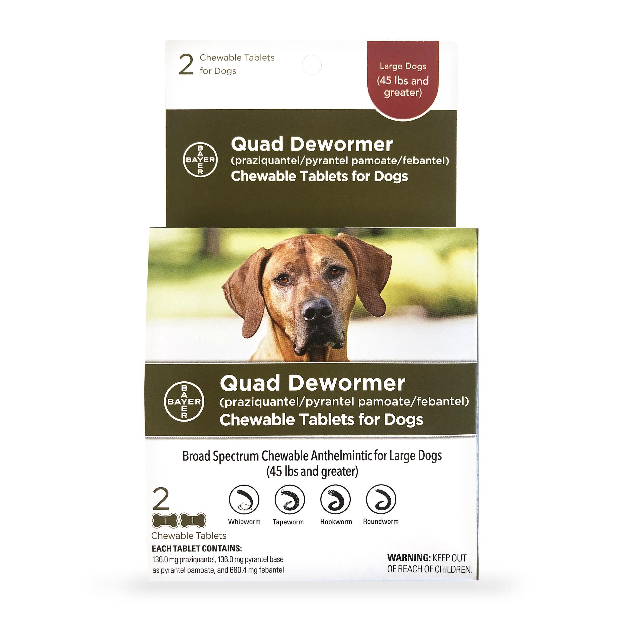 Quad Large Dog De-Wormer, 2-count Image