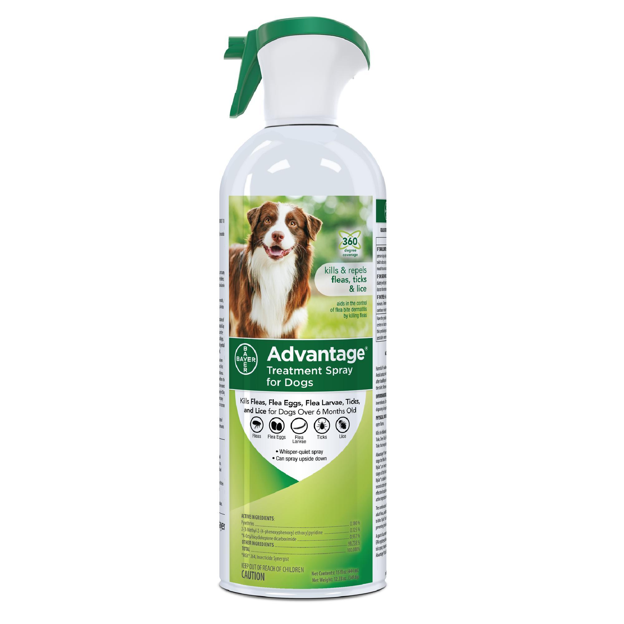 Advantage Flea & Tick Treatment Spray for Dogs, 15-oz