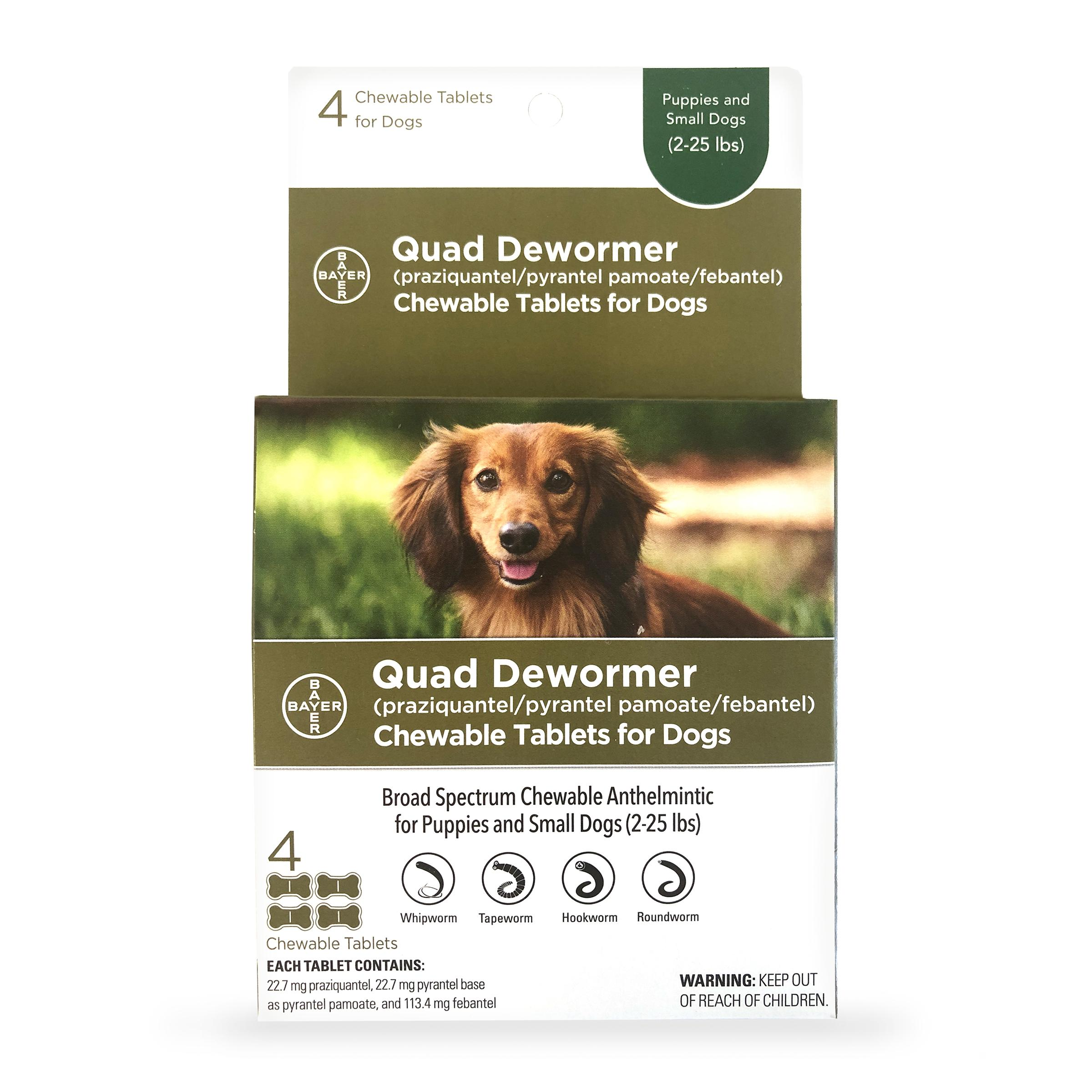 Quad Small Dog De-Wormer, 4-count