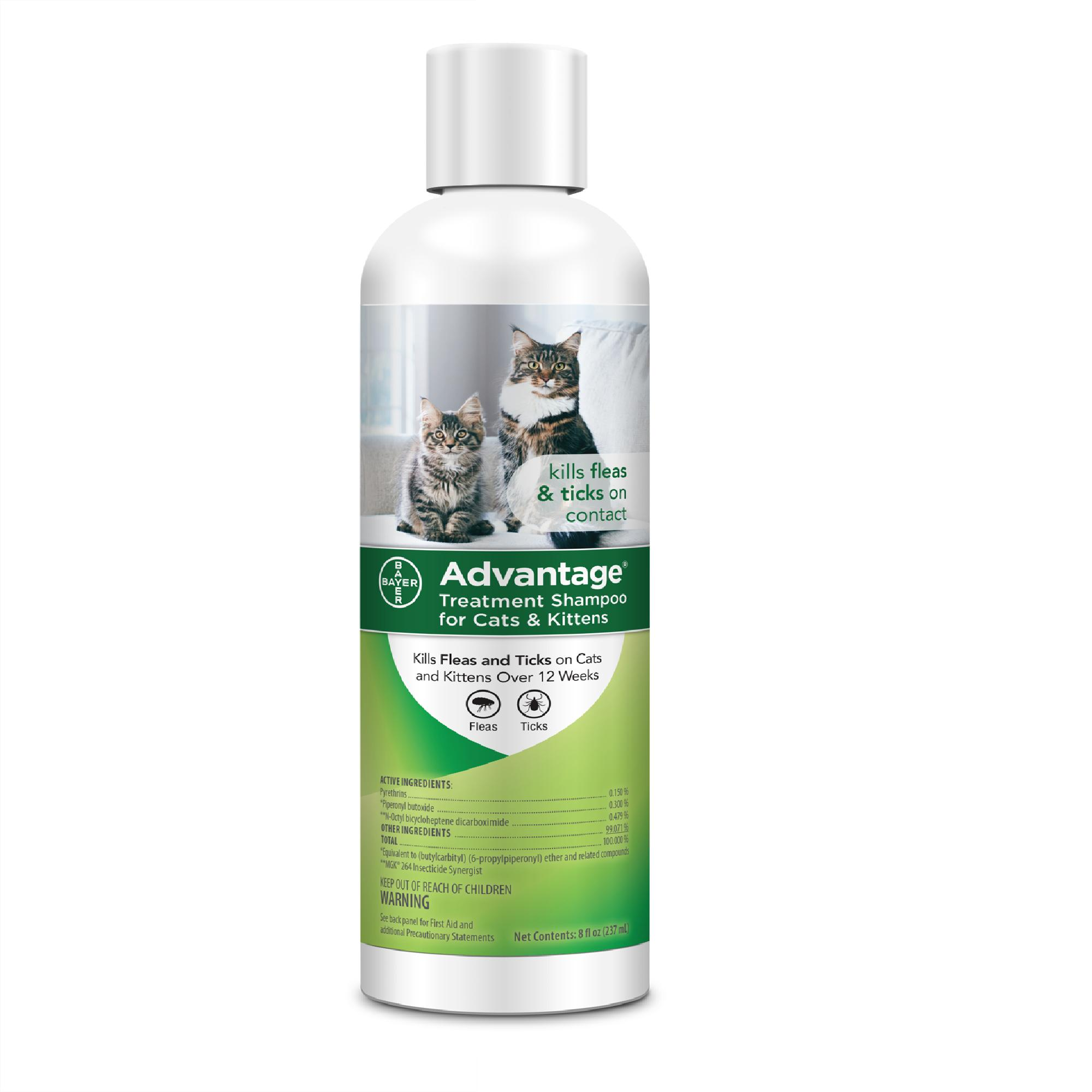 Advantage Flea & Tick Treatment Shampoo for Cats & Kittens, 8-oz