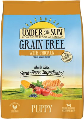 Under the Sun Grain-Free Chicken Recipe Puppy Dry Dog Food, 4-lb bag