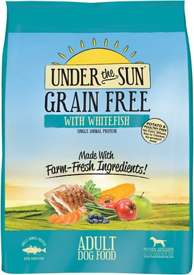 Under the Sun Grain-Free Adult Whitefish Recipe Dry Dog Food, 4-lb bag