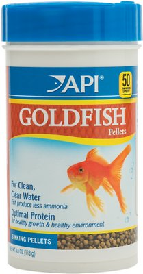 API Sinking Pellets Goldfish Food, 4-oz bottle