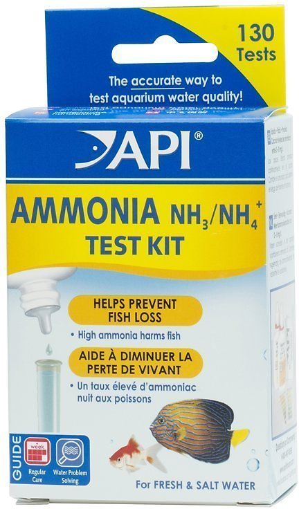 API Ammonia Freshwater & Saltwater Aquarium Test Kit, 130 count Image