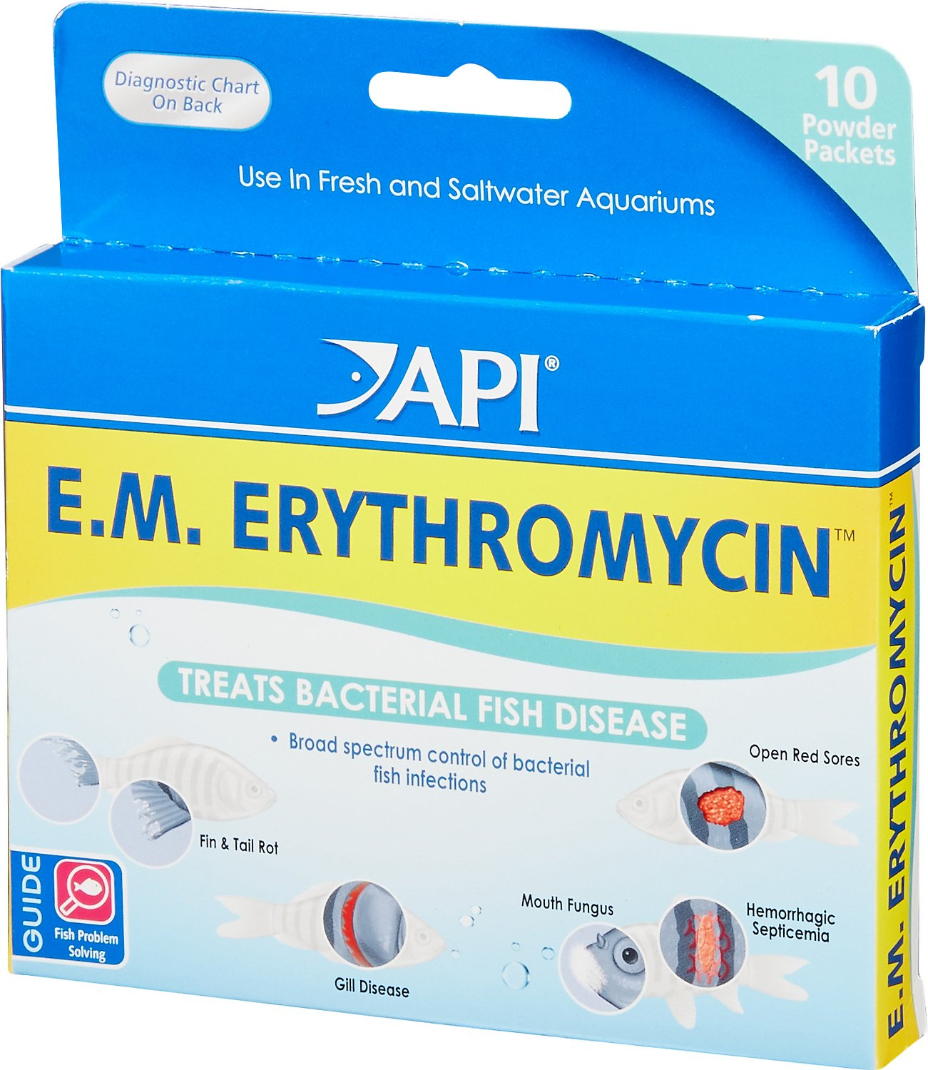 API E.M. Erythromycin Freshwater Fish Bacterial Disease Medication, 10 count Image