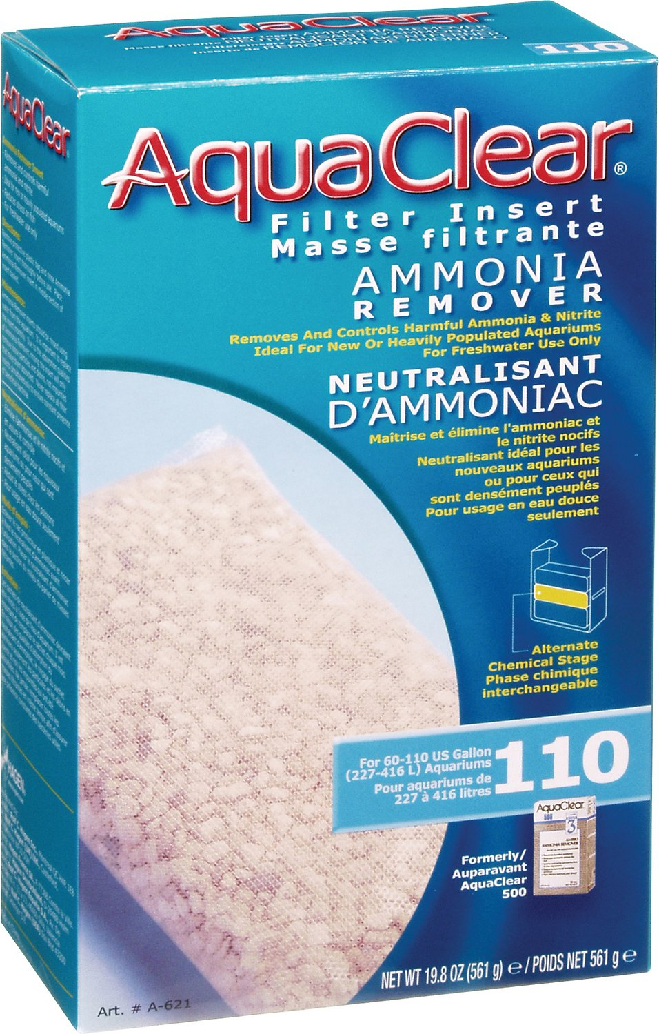 AquaClear Ammonia Remover Filter Insert, Size 110
