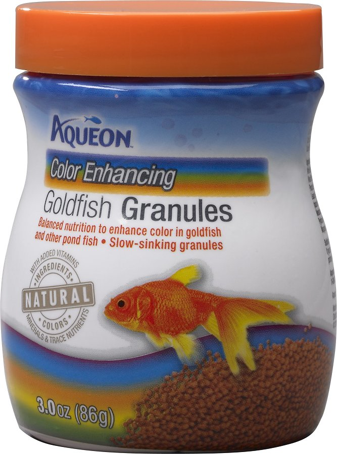 Aqueon Color Enhancing Goldfish Granules Fish Food, 3-oz jar