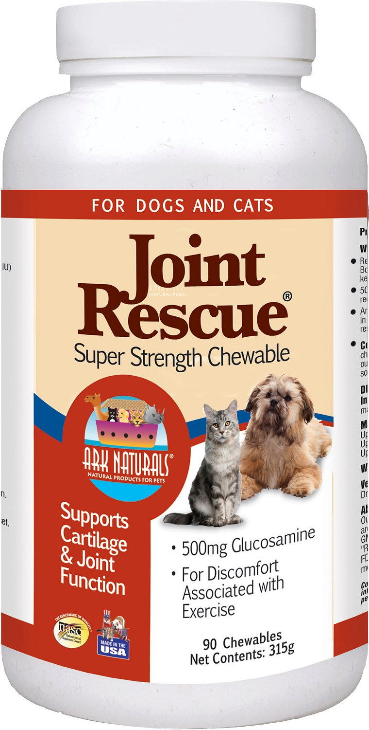 Ark Naturals Joint Rescue Super Strength Chewables Dog & Cat Supplement, 60-count
