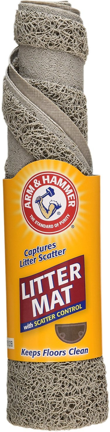 Arm & Hammer Half Circle Cat Litter Mat, Pearl Tan Image
