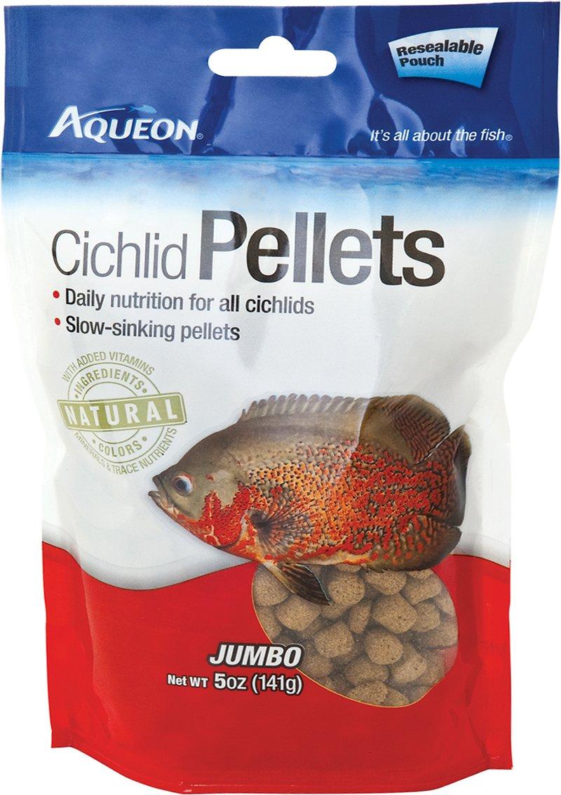 Aqueon Jumbo Cichlid Pellet Fish Food, 5-oz jar Image