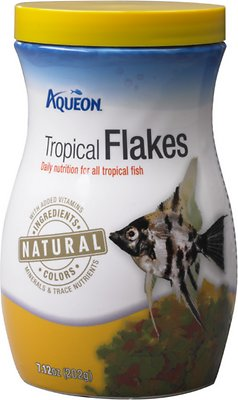 Aqueon Tropical Flakes Freshwater Fish Food, 7.12-oz jar