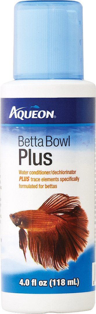 Aqueon Betta Bowl Plus Water Conditioner, 4-oz bottle