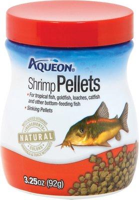 Aqueon Shrimp Pellet Tropical Fish Food, 3.25-oz jar