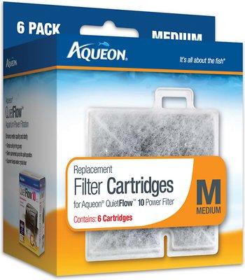 Aqueon Medium Filter Cartridge Replacement, 6-count