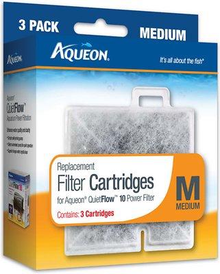 Aqueon Medium Filter Cartridge Replacement, 3-count