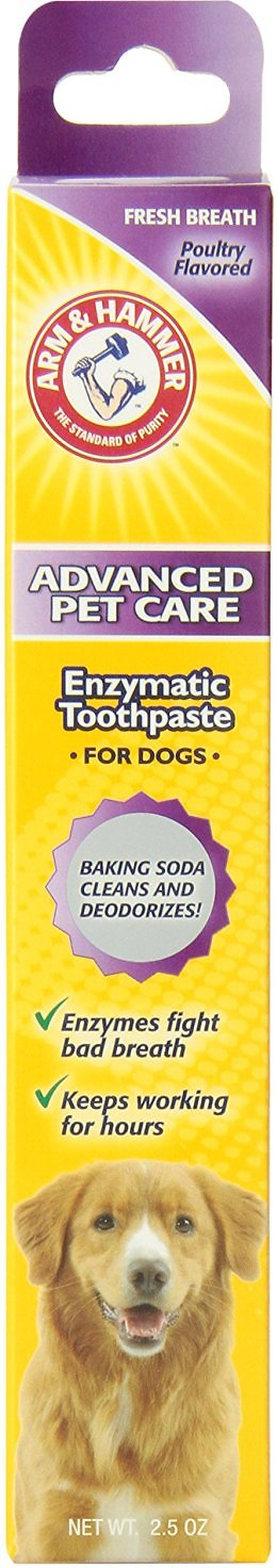 Arm & Hammer Dental Advanced Care Fresh Breath & Whitening Toothpaste for Dogs, 2.5-oz tube