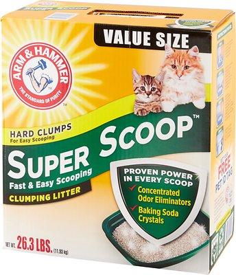 Arm & Hammer Litter Super Scoop Fresh Clean Scent Clumping Litter, 26.3-lb box