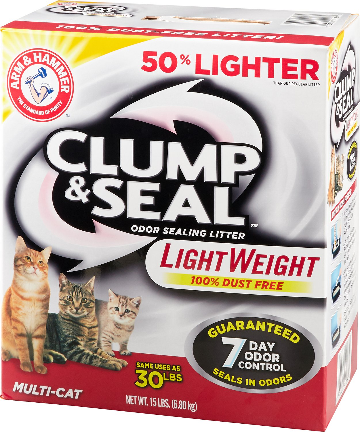 Arm & Hammer Litter Clump & Seal LightWeight Multi-Cat Litter Image