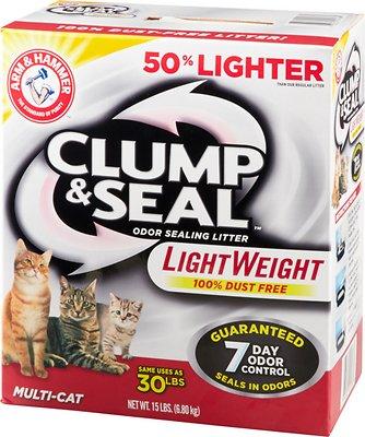 Arm & Hammer Litter Clump & Seal LightWeight Multi-Cat Litter, 15-lb box
