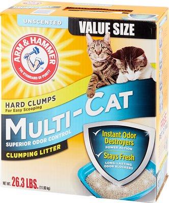 Arm & Hammer Litter Multi-Cat Strength Clumping Litter, 26.3-lb box
