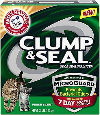 Arm & Hammer Litter Clump & Seal MicroGuard Fresh Scent Cat Litter, 28-lb box