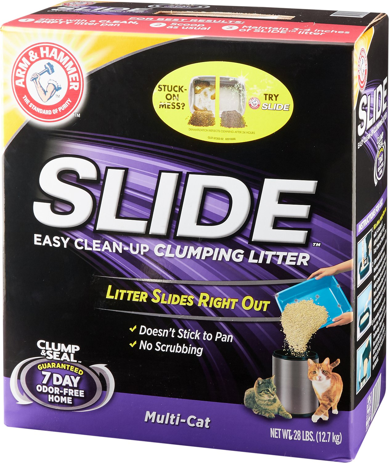 Arm & Hammer Litter Multi Cat Slide Easy Clean-Up Clumping Cat Litter Image