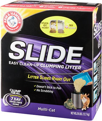 Arm & Hammer Litter Multi Cat Slide Easy Clean-Up Clumping Cat Litter, 28-lb