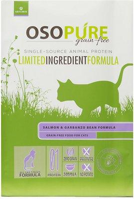 Artemis Osopure Grain Free Limited Ingredient Salmon & Garbanzo Bean Formula Dry Cat Food, 4-lb bag