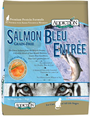 Addiction Grain-Free Salmon Bleu Dry Cat Food, 4-lb bag