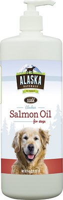 Alaska Naturals Wild Alaskan Salmon Oil Natural Dog Supplement, 32-oz bottle