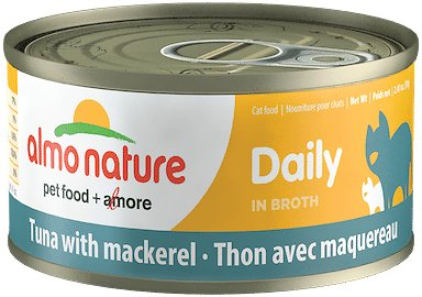 Almo Nature Daily Tuna with Mackerel in Broth Grain-Free Wet Cat Food, 2.47-oz