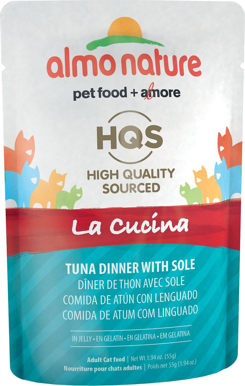 Almo Nature HQS La Cucina Tuna with Sole Grain-Free Wet Cat Food, 1.94-oz