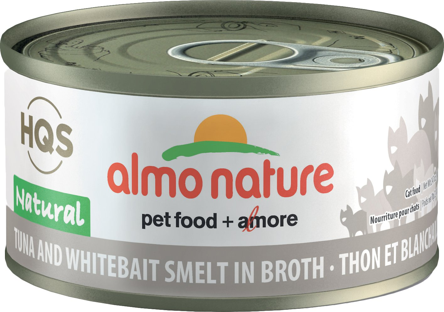 Almo Nature HQS Natural Tuna & Whitebait Smelt in Broth Grain-Free Wet Cat Food Image