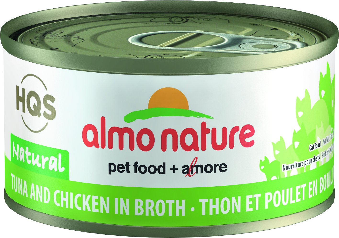 Almo Nature HQS Natural Tuna & Chicken in Broth Grain-Free Wet Cat Food Image
