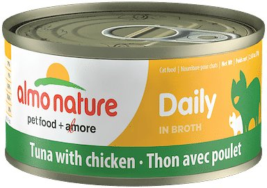 Almo Nature Daily Tuna with Chicken in Broth Grain-Free Wet Cat Food Image