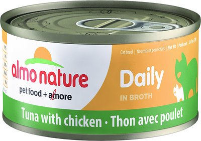 Almo Nature Daily Tuna with Chicken in Broth Grain-Free Wet Cat Food, 2.47-oz, case of 24