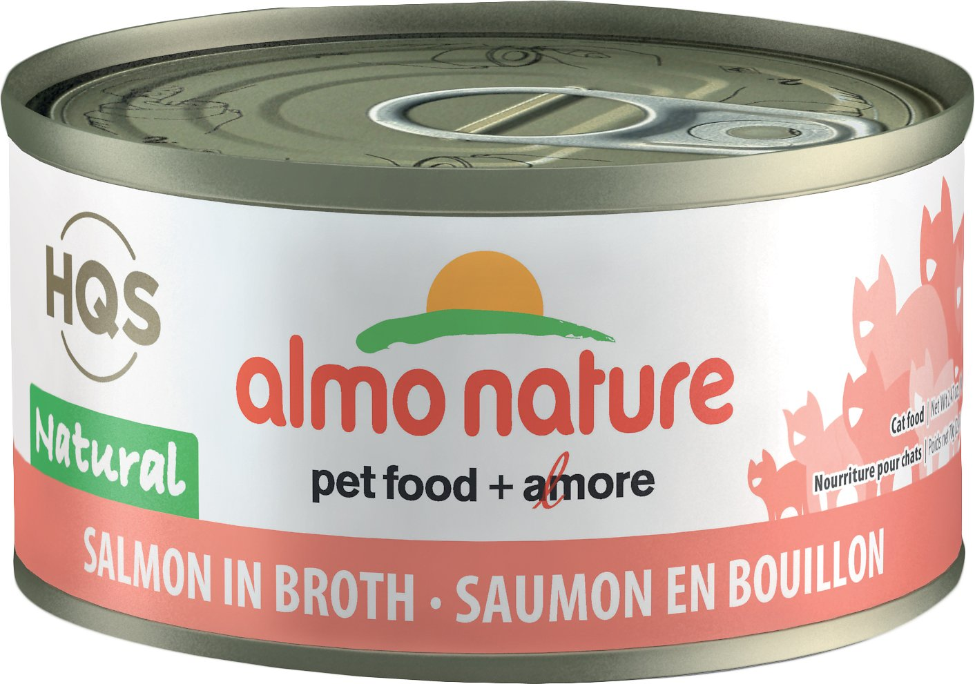 Almo Nature HQS Natural Salmon in Broth Grain-Free Wet Cat Food Image